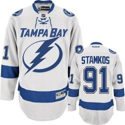 Tampa Bay Lightning Steven Stamkos Official White Reebok Premier Youth Away NHL Hockey Jersey