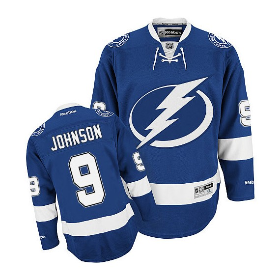 Tampa Bay Lightning Tyler Johnson Official Blue Reebok Authentic Adult Home NHL Hockey Jersey