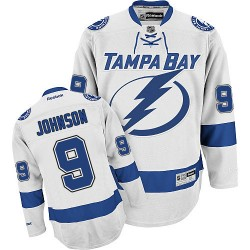 Tampa Bay Lightning Tyler Johnson Official White Reebok Authentic Adult Away NHL Hockey Jersey