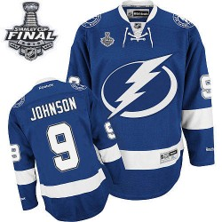 Tampa Bay Lightning Tyler Johnson Official Royal Blue Reebok Premier Adult Home 2015 Stanley Cup NHL Hockey Jersey