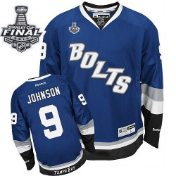 Tampa Bay Lightning Tyler Johnson Official Royal Blue Reebok Premier Adult Third 2015 Stanley Cup NHL Hockey Jersey