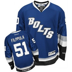 Tampa Bay Lightning Valtteri Filppula Official Blue Reebok Authentic Adult Third NHL Hockey Jersey
