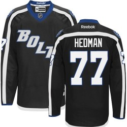 Tampa Bay Lightning Victor Hedman Official Black Reebok Authentic Adult Third NHL Hockey Jersey