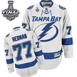 Tampa Bay Lightning Victor Hedman Official White Reebok Authentic Adult Away 2015 Stanley Cup NHL Hockey Jersey