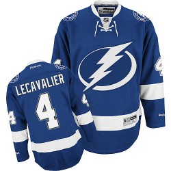 Tampa Bay Lightning Vincent Lecavalier Official Royal Blue Reebok Authentic Adult Home NHL Hockey Jersey
