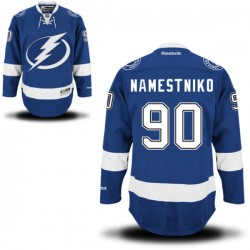 Tampa Bay Lightning Vladislav Namestnikov Official Royal Blue Reebok Authentic Adult Home NHL Hockey Jersey