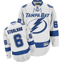 Tampa Bay Lightning Anton Stralman Official White Reebok Authentic Adult Away NHL Hockey Jersey
