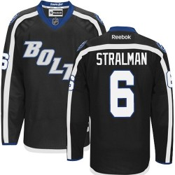 Tampa Bay Lightning Anton Stralman Official Black Reebok Premier Adult Third NHL Hockey Jersey