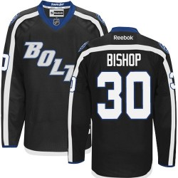 Tampa Bay Lightning Ben Bishop Official Black Reebok Authentic Adult Third NHL Hockey Jersey