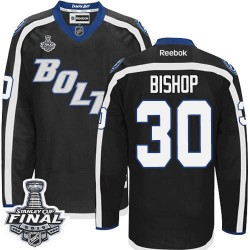Tampa Bay Lightning Ben Bishop Official Black Reebok Premier Adult Third 2015 Stanley Cup NHL Hockey Jersey