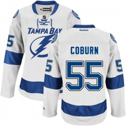 Tampa Bay Lightning Braydon Coburn Official White Reebok Premier Adult Road NHL Hockey Jersey