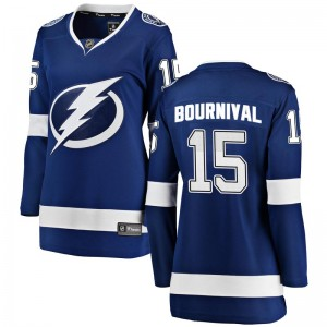 Tampa Bay Lightning Michael Bournival Official Blue Fanatics Branded Breakaway Women's Home NHL Hockey Jersey