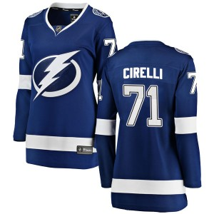 Tampa Bay Lightning Anthony Cirelli Official Blue Fanatics Branded Breakaway Women's Home NHL Hockey Jersey