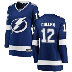 Tampa Bay Lightning John Cullen Official Blue Fanatics Branded Breakaway Women's Home NHL Hockey Jersey