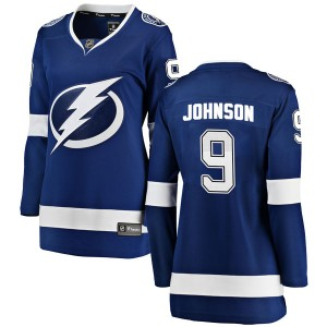 Tampa Bay Lightning Tyler Johnson Official Blue Fanatics Branded Breakaway Women's Home NHL Hockey Jersey