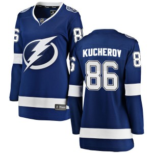 Tampa Bay Lightning Nikita Kucherov Official Blue Fanatics Branded Breakaway Women's Home NHL Hockey Jersey