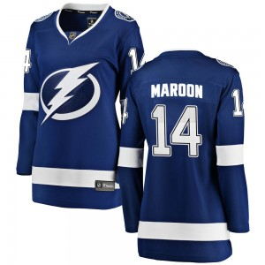 Tampa Bay Lightning Patrick Maroon Official Blue Fanatics Branded Breakaway Women's Home NHL Hockey Jersey