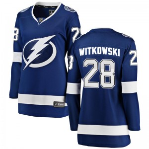 Tampa Bay Lightning Luke Witkowski Official Blue Fanatics Branded Breakaway Women's Home NHL Hockey Jersey