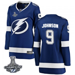 Tampa Bay Lightning Tyler Johnson Official Blue Fanatics Branded Breakaway Women's Home 2020 Stanley Cup Champions NHL Hockey Je