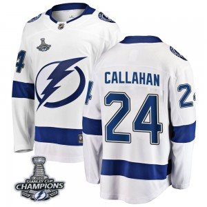 Tampa Bay Lightning Ryan Callahan Official White Fanatics Branded Breakaway Youth Away 2020 Stanley Cup Champions NHL Hockey Jer
