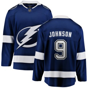Tampa Bay Lightning Tyler Johnson Official Blue Fanatics Branded Breakaway Adult Home NHL Hockey Jersey