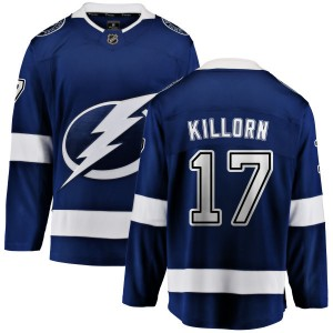 Tampa Bay Lightning Alex Killorn Official Blue Fanatics Branded Breakaway Youth Home NHL Hockey Jersey