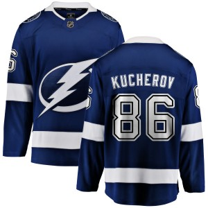Tampa Bay Lightning Nikita Kucherov Official Blue Fanatics Branded Breakaway Youth Home NHL Hockey Jersey