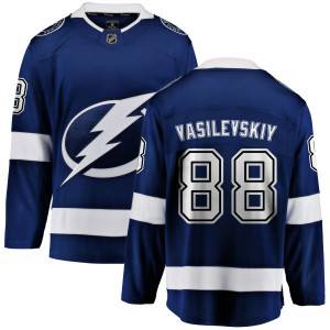 Tampa Bay Lightning Andrei Vasilevskiy Official Blue Fanatics Branded Breakaway Adult Home NHL Hockey Jersey
