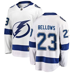 Tampa Bay Lightning Brian Bellows Official White Fanatics Branded Breakaway Adult Away NHL Hockey Jersey