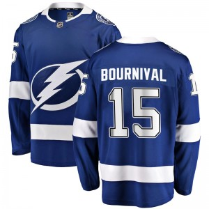 Tampa Bay Lightning Michael Bournival Official Blue Fanatics Branded Breakaway Adult Home NHL Hockey Jersey