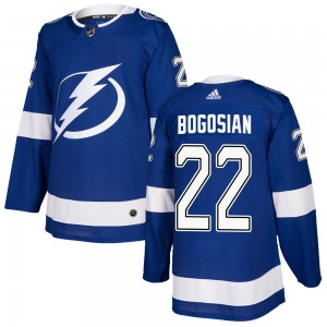 Tampa Bay Lightning Zach Bogosian Official Blue Adidas Authentic Adult Home NHL Hockey Jersey