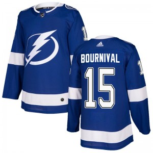 Tampa Bay Lightning Michael Bournival Official Blue Adidas Authentic Adult Home NHL Hockey Jersey