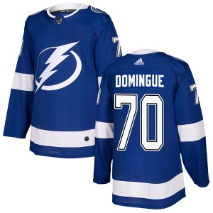 Tampa Bay Lightning Louis Domingue Official Blue Adidas Authentic Adult Home NHL Hockey Jersey