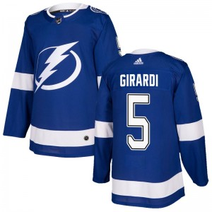 Tampa Bay Lightning Dan Girardi Official Blue Adidas Authentic Adult Home NHL Hockey Jersey
