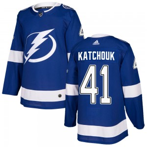 Tampa Bay Lightning Boris Katchouk Official Blue Adidas Authentic Adult Home NHL Hockey Jersey