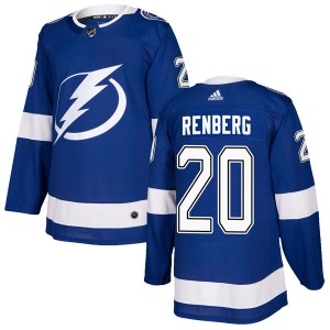 Tampa Bay Lightning Mikael Renberg Official Blue Adidas Authentic Adult Home NHL Hockey Jersey