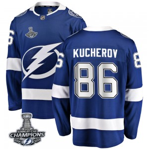 Tampa Bay Lightning Nikita Kucherov Official Blue Fanatics Branded Breakaway Youth Home 2020 Stanley Cup Champions NHL Hockey Je