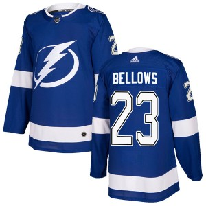 Tampa Bay Lightning Brian Bellows Official Blue Adidas Authentic Youth Home NHL Hockey Jersey