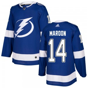 Tampa Bay Lightning Patrick Maroon Official Blue Adidas Authentic Youth Home NHL Hockey Jersey