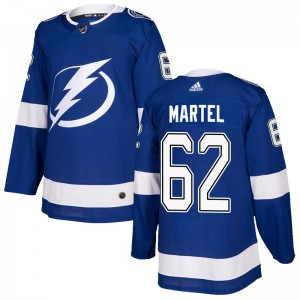 Tampa Bay Lightning Danick Martel Official Blue Adidas Authentic Youth Home NHL Hockey Jersey