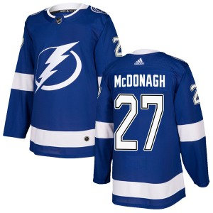 Tampa Bay Lightning Ryan McDonagh Official Blue Adidas Authentic Youth Home NHL Hockey Jersey