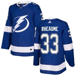 Tampa Bay Lightning Manon Rheaume Official Blue Adidas Authentic Youth Home NHL Hockey Jersey
