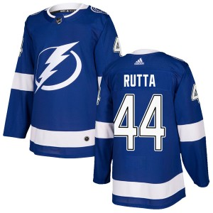 Tampa Bay Lightning Jan Rutta Official Blue Adidas Authentic Youth Home NHL Hockey Jersey