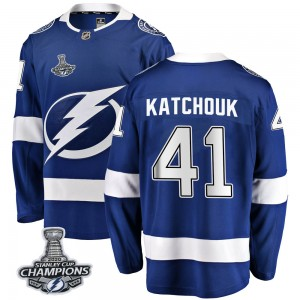 Tampa Bay Lightning Boris Katchouk Official Blue Fanatics Branded Breakaway Adult Home 2020 Stanley Cup Champions NHL Hockey Jer