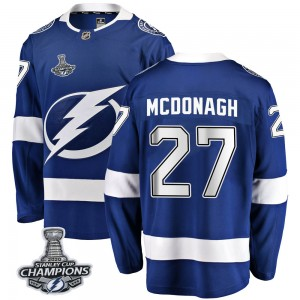 Tampa Bay Lightning Ryan McDonagh Official Blue Fanatics Branded Breakaway Adult Home 2020 Stanley Cup Champions NHL Hockey Jers