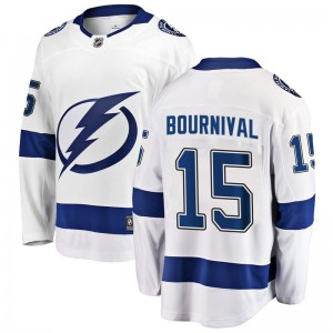 Tampa Bay Lightning Michael Bournival Official White Fanatics Branded Breakaway Youth Away NHL Hockey Jersey