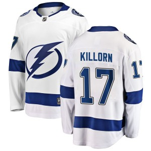 Tampa Bay Lightning Alex Killorn Official White Fanatics Branded Breakaway Youth Away NHL Hockey Jersey