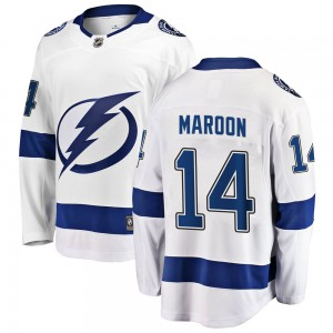 Tampa Bay Lightning Patrick Maroon Official White Fanatics Branded Breakaway Youth Away NHL Hockey Jersey