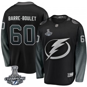Tampa Bay Lightning Alex Barre-Boulet Official Black Fanatics Branded Breakaway Youth Alternate 2020 Stanley Cup Champions NHL H