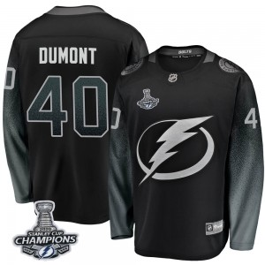 Tampa Bay Lightning Gabriel Dumont Official Black Fanatics Branded Breakaway Youth Alternate 2020 Stanley Cup Champions NHL Hock